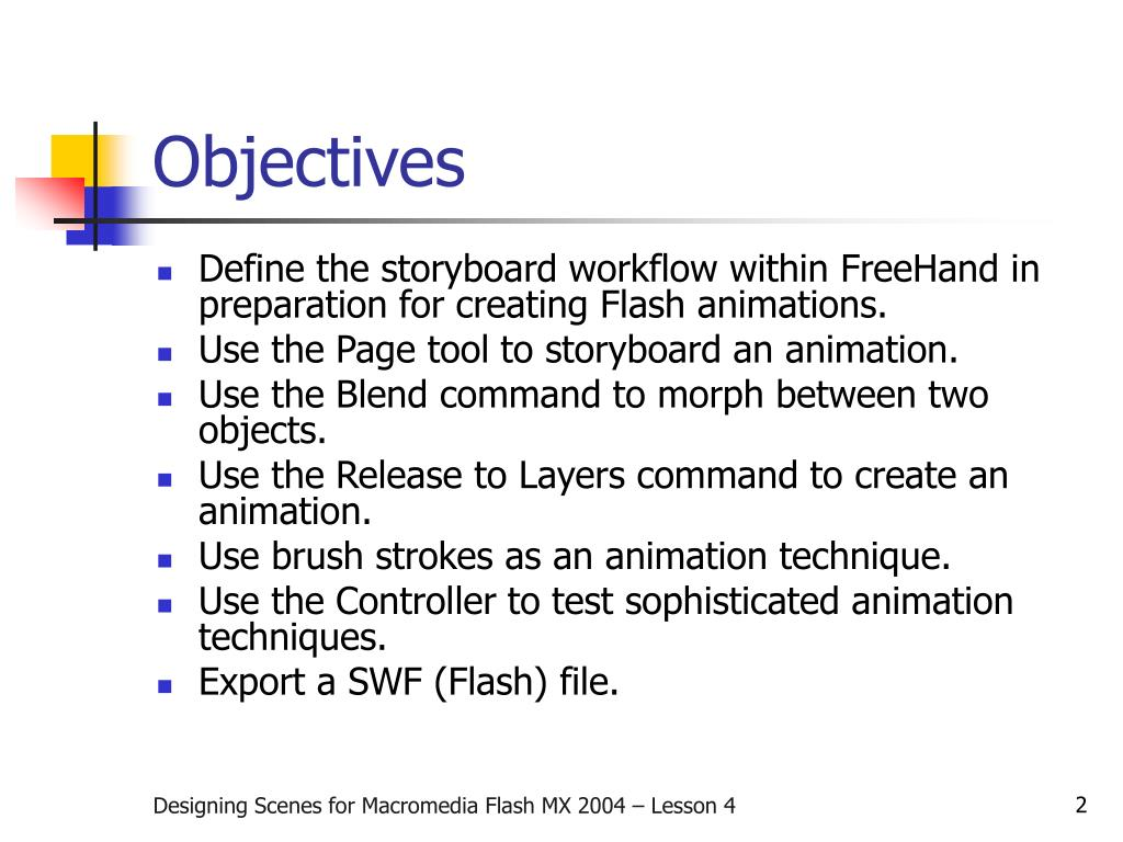 PPT - Designing Scenes for Macromedia Flash MX 2004
