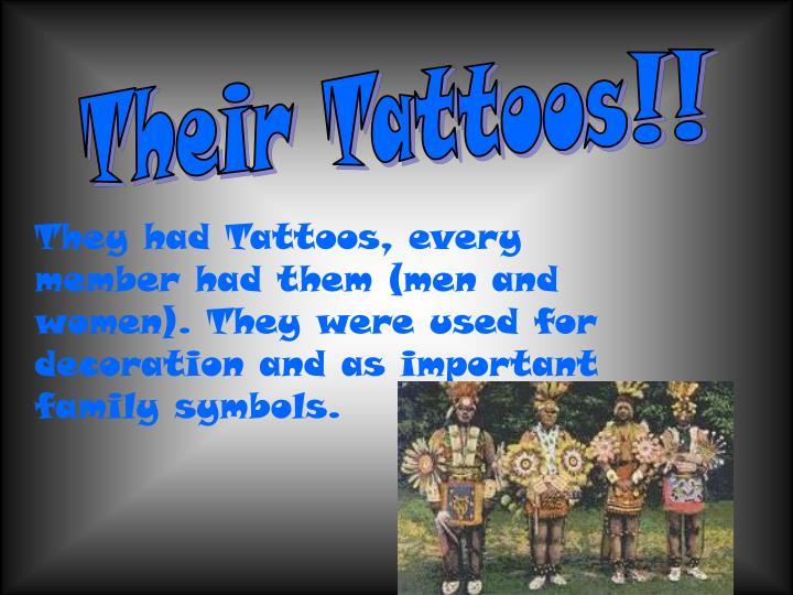 Their Tattoos!!