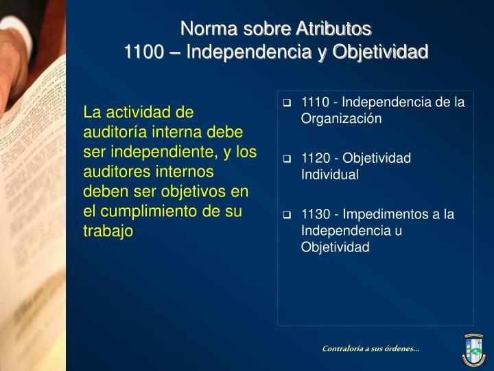 1110 - Independencia de la Organización