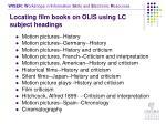 locating film books on olis using lc subject headings