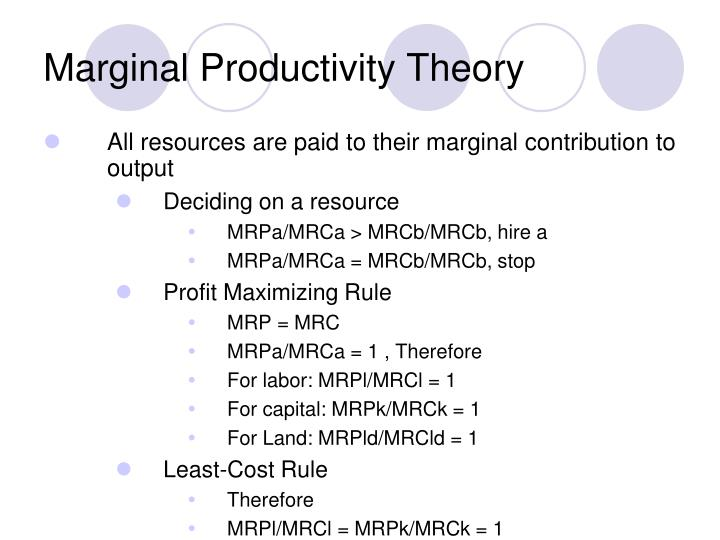 marginal productivity theory of wages pdf