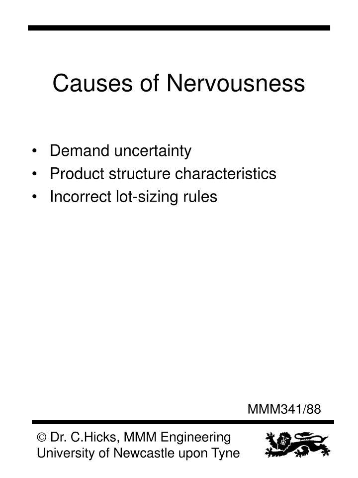 Causes of Nervousness