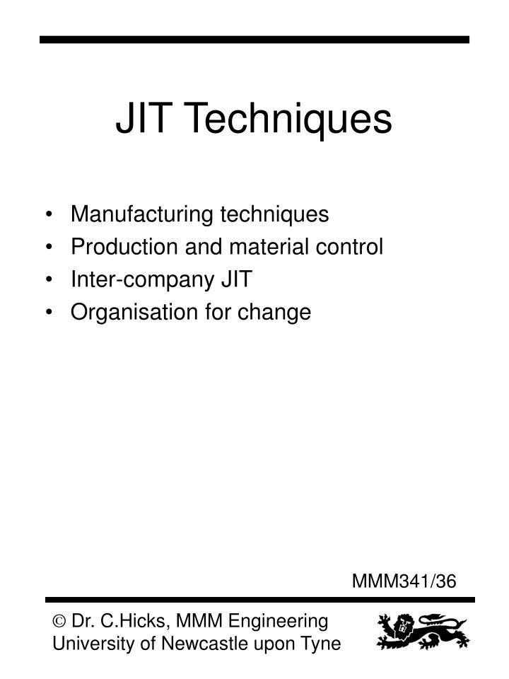 JIT Techniques