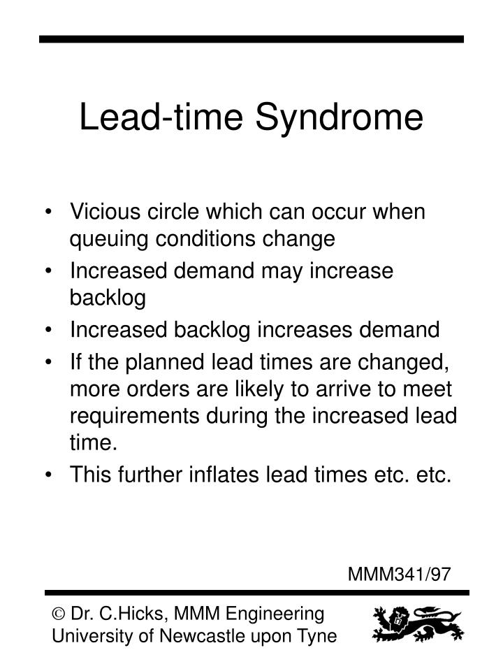 Lead-time Syndrome