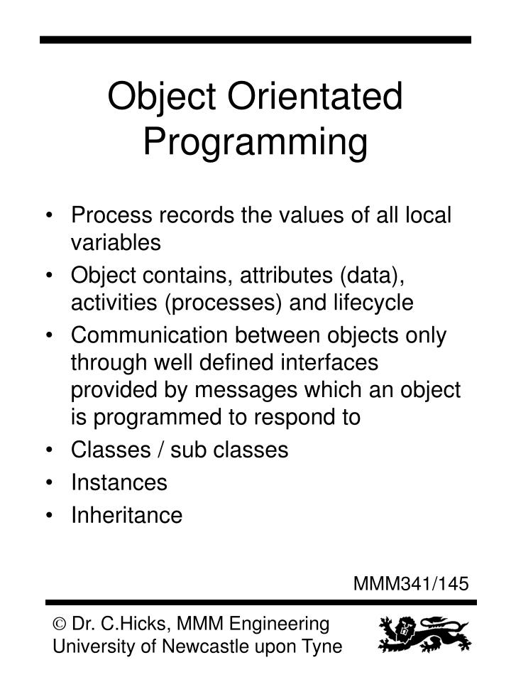 Object Orientated Programming