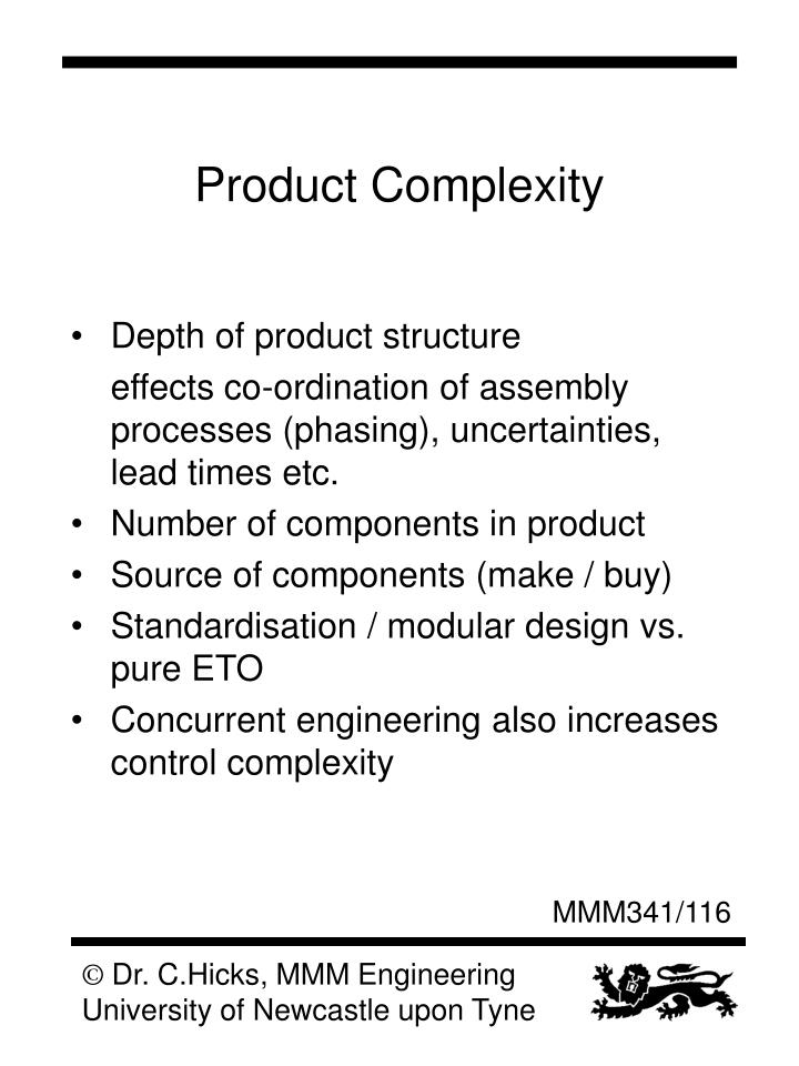 Product Complexity