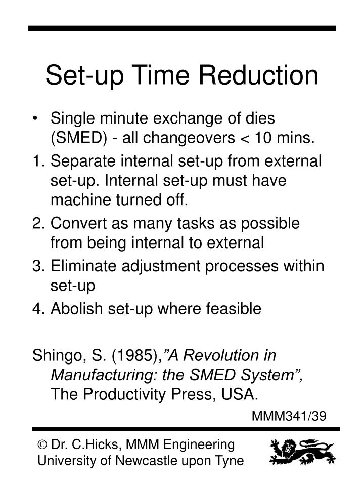 Set-up Time Reduction