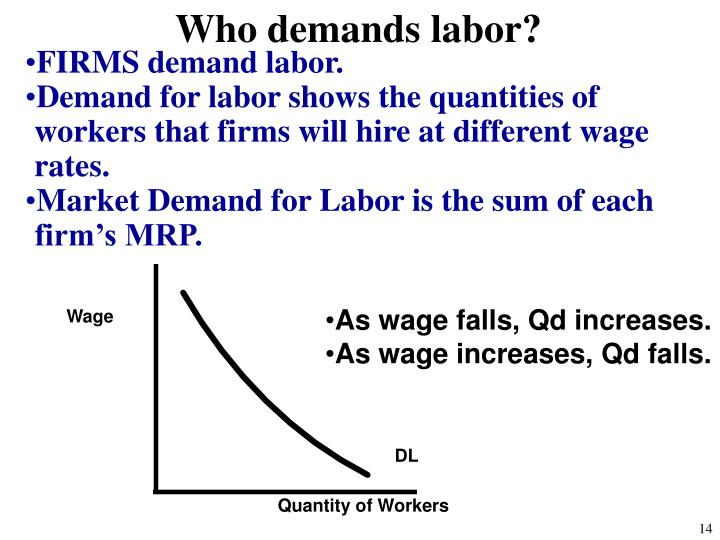Who demands labor?