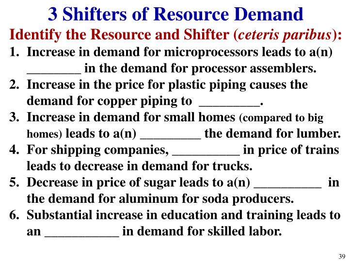 3 Shifters of Resource Demand