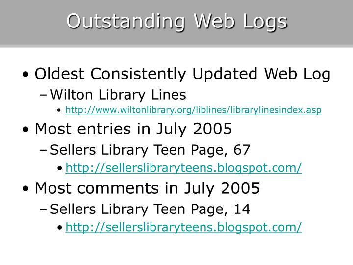 Outstanding Web Logs
