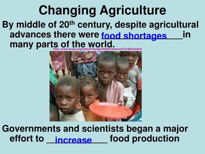 Changing Agriculture