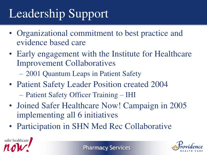 Leadership Support