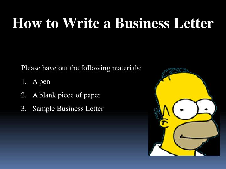 how to write a business paper