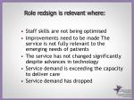 role redsign is relevant where