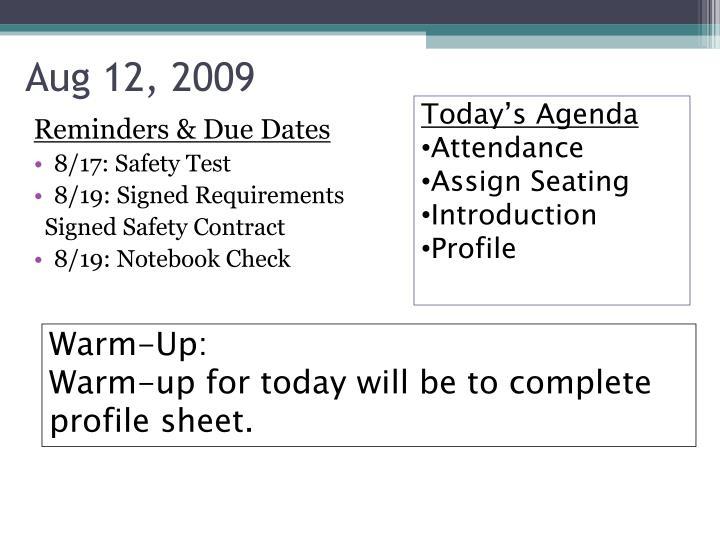 Aug 12, 2009