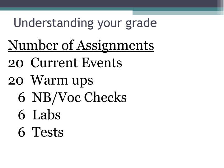 Understanding your grade