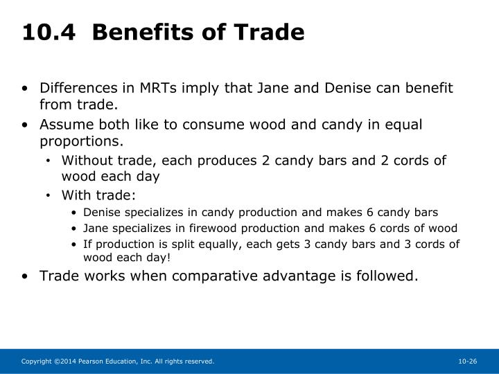 10.4  Benefits of Trade