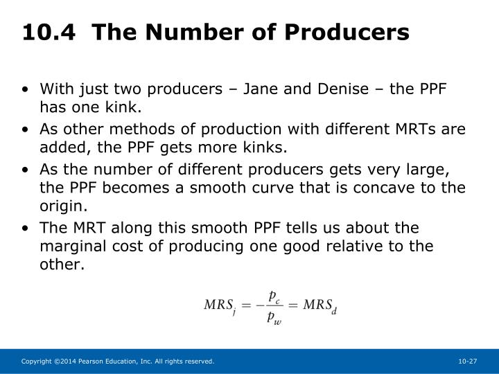 10.4  The Number of Producers