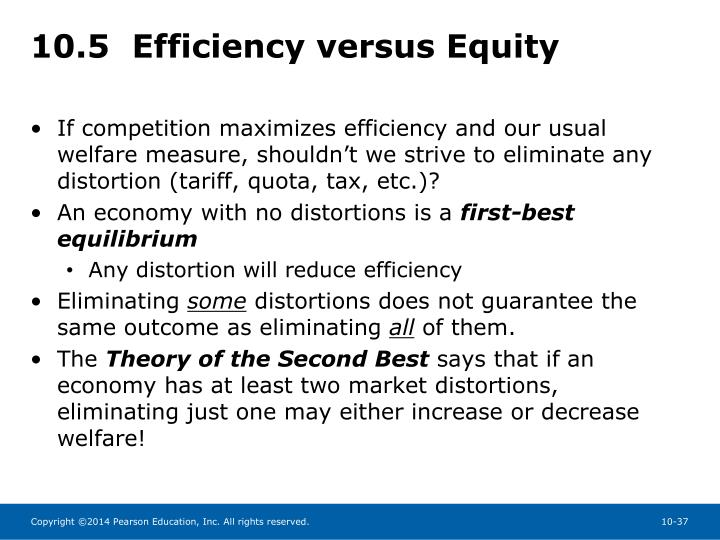 10.5  Efficiency versus Equity