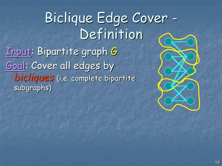 Biclique Edge Cover - Definition
