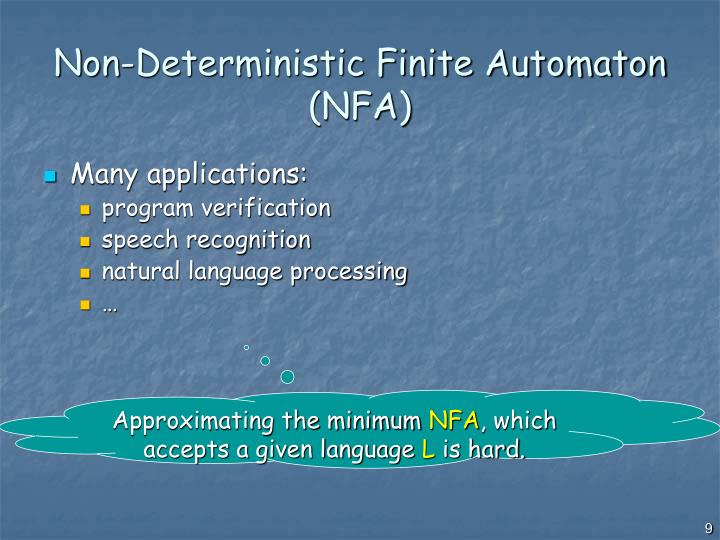 Non-Deterministic Finite Automaton (NFA)