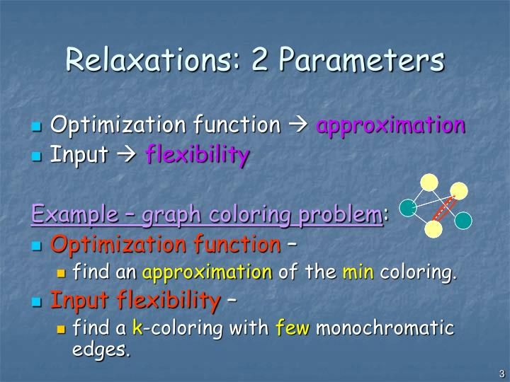 Relaxations 2 parameters