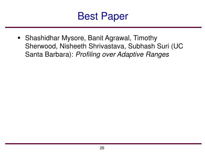 Best Paper