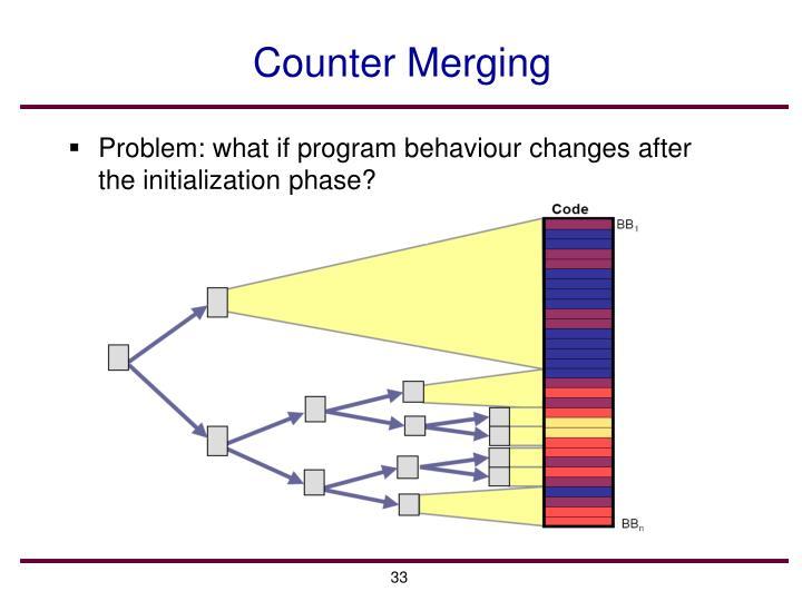 Counter Merging
