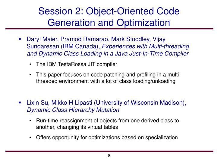 Session 2: Object-Oriented Code