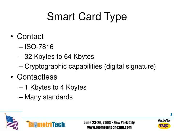 Smart Card Type