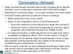 conclusions aerosol