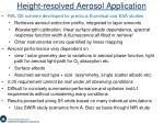 height resolved aerosol application