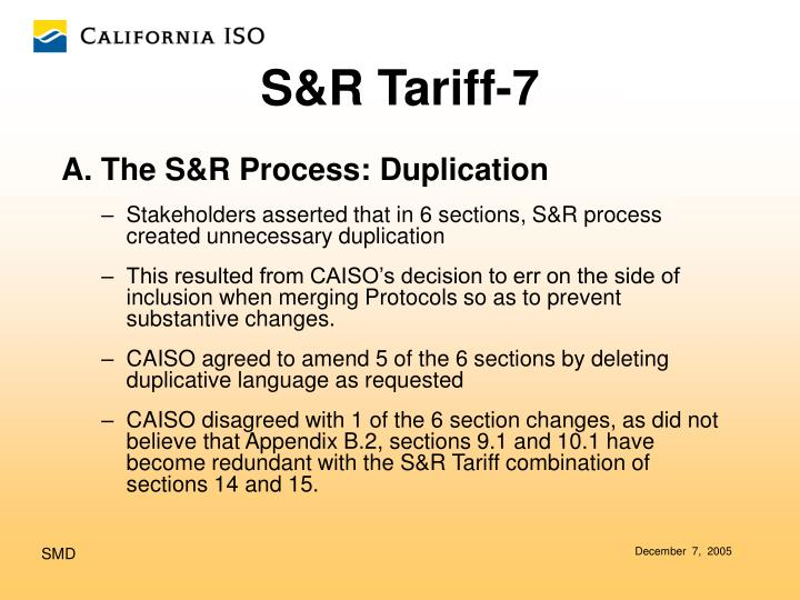A. The S&R Process: Duplication