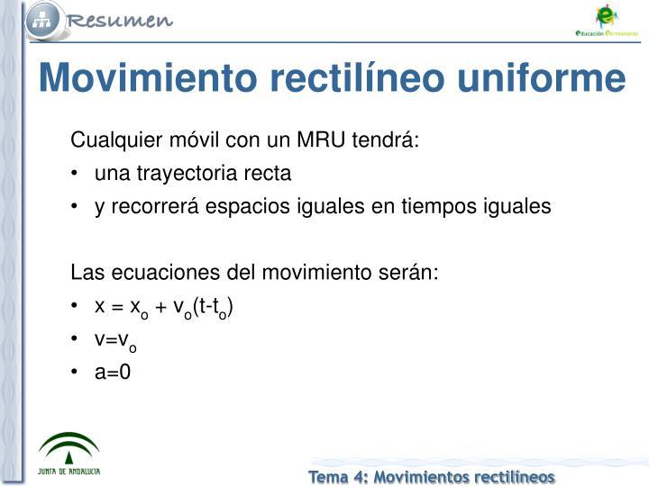 Movimiento rectil neo uniforme