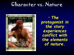 character vs nature