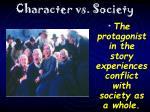 character vs society