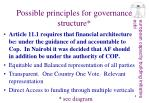 possible principles for governance structure