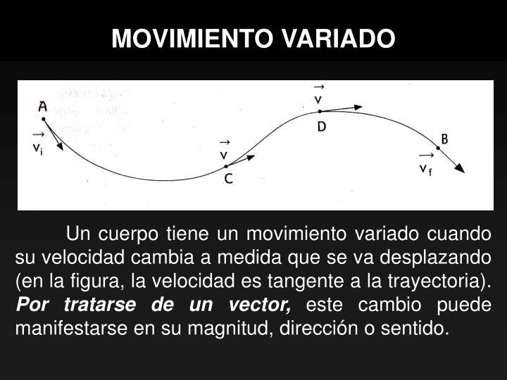 Movimiento variado