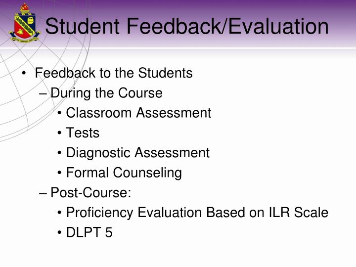 Feedback to the Students