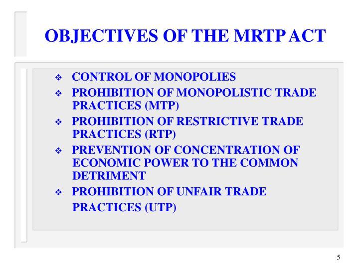 monopolistic trade practices