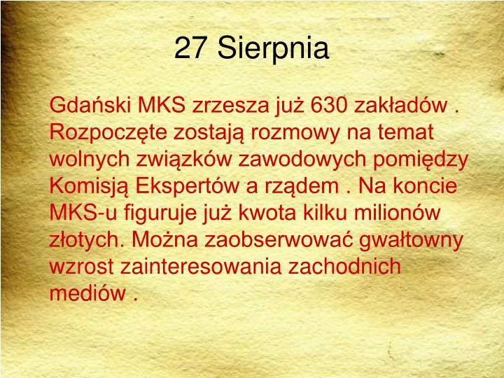 27 Sierpnia