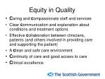 equity in quality