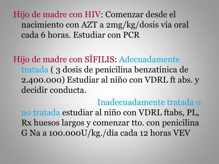 Hijo de madre con HIV