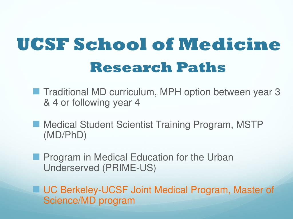 PPT - UC Berkeley-UCSF Joint Medical Program PowerPoint Presentation