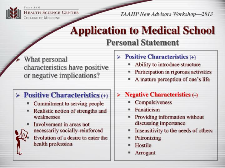 What personal characteristics have positive or negative implications?