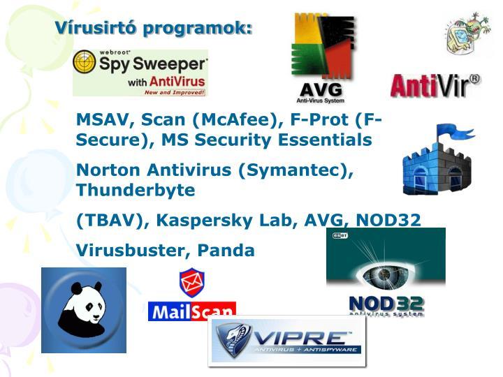Vírusirtó programok: