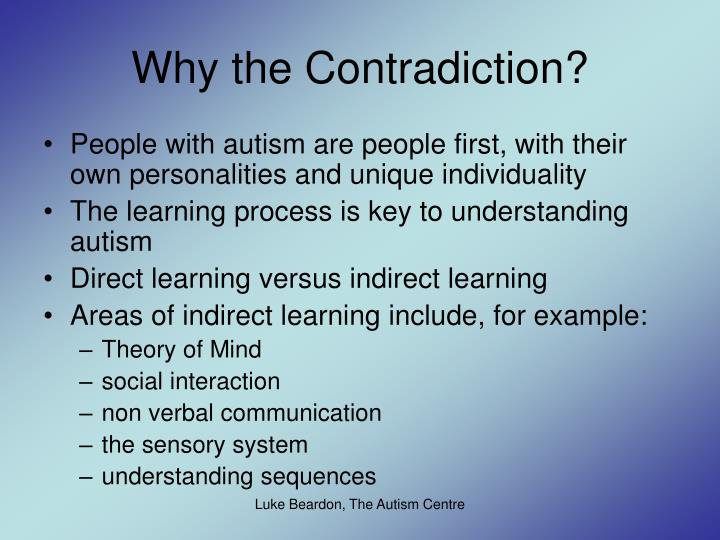 Why the Contradiction?