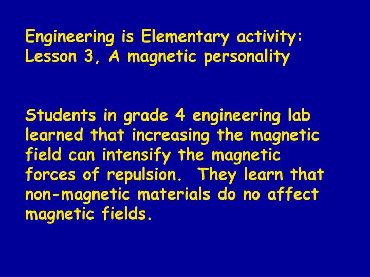 Engineering is Elementary activity: