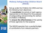 medway safeguarding children board mscb