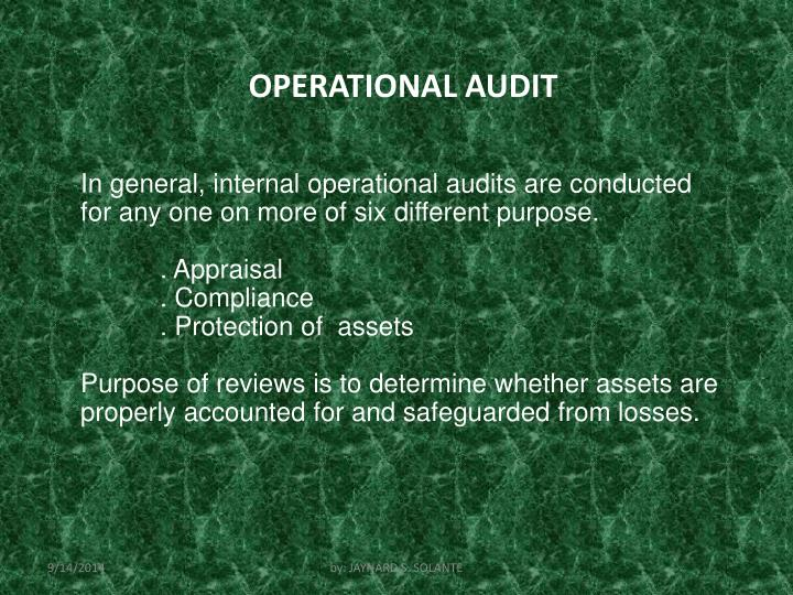 OPERATIONAL AUDIT